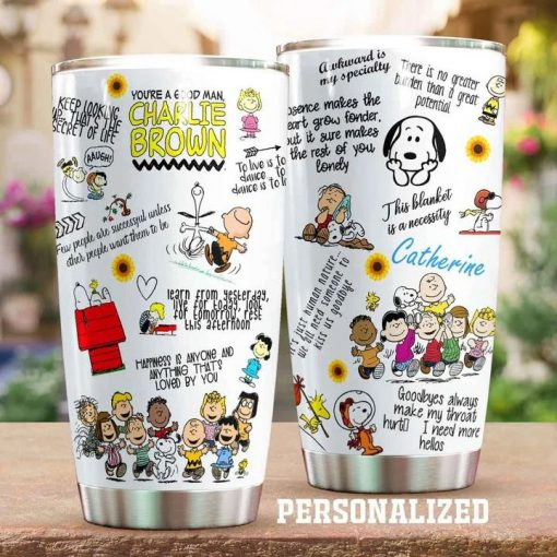 The Peanuts Gang Snoopy personalized tumbler 1