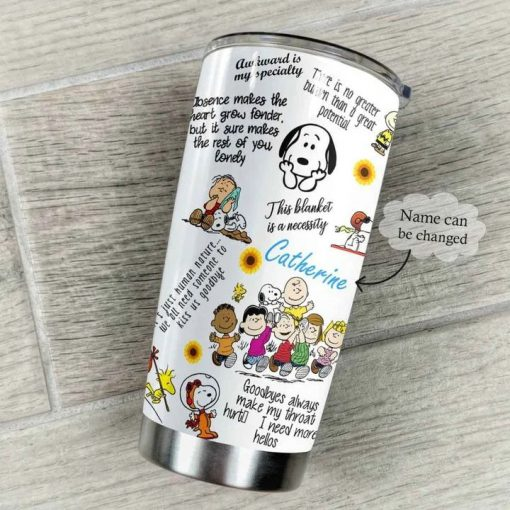 The Peanuts Gang Snoopy personalized tumbler 2