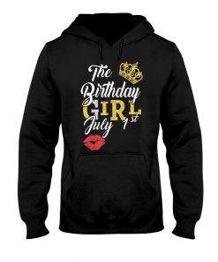 The birthday girl July 1st Glitter Queen Hoodie