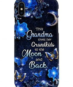 This grandma loves her grandkids to the moon and back phone case x