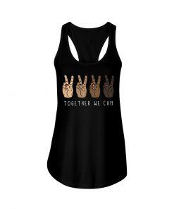 Together We Can Black V sign tank top