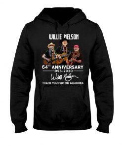 Willie Nelson 64th Anniversary 1956-2020 hoodie