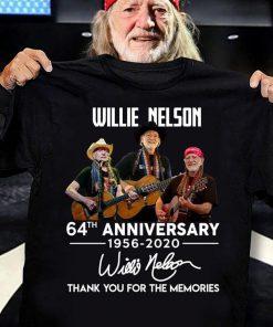 Willie Nelson 64th Anniversary 1956-2020 shirt 0