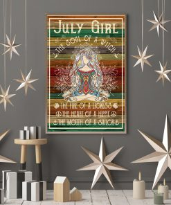 Yoga July girl The soul of a witch The fire of a lioness The heart of a hippie The mouth of a sailor poster 1