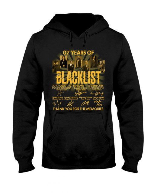 07 Years of Blacklist signatures Thank you for the memories hoodie