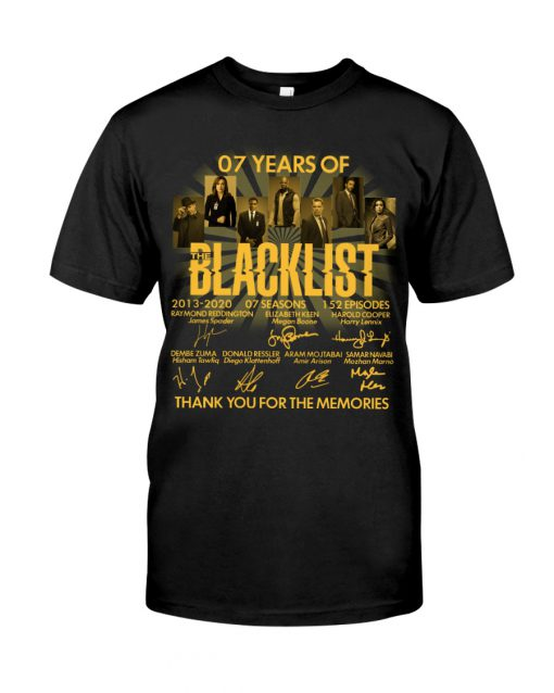 07 Years of Blacklist signatures Thank you for the memories shirt