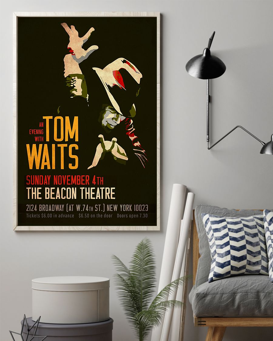 US Shop An evening with Tom Waits Sunday November 4th The Beacon Theatre poster