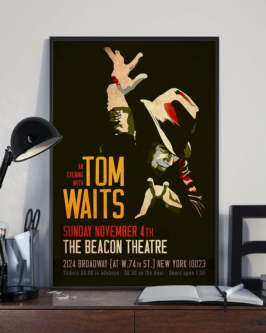 Fantastic An evening with Tom Waits Sunday November 4th The Beacon Theatre poster
