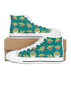 Baby Yoda Pattern Low Top shoes2