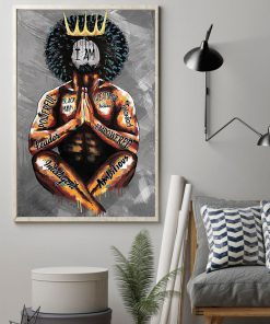 Black King I am black man powerful leader intelligent ambitious greatness talented poster1