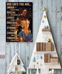 Black Wonder Woman God says you are unique special lovely precious strong poster3