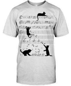 Cat Kitty Playing Music Clef Piano Musician shirt