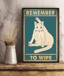 Cat Remember to wipe vintage poster 1