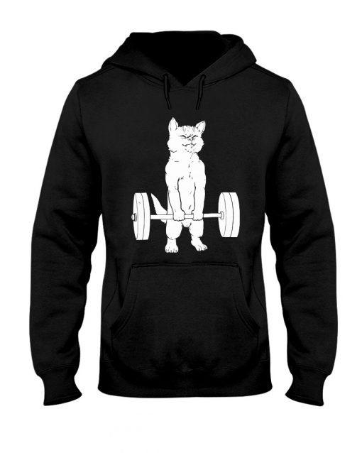 Cat and Gym Hoodie