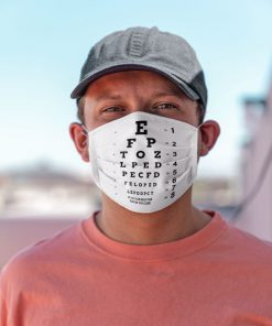 Eye Chart Visual Acuity Test face mask1