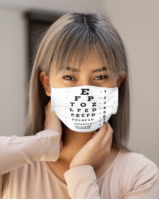 Eye Chart Visual Acuity Test face mask3
