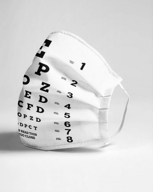 Eye Chart Visual Acuity Test face mask4