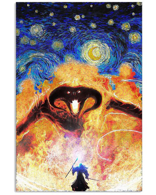 Fire Demon Starry Night Poster 1