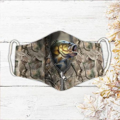 Fishing zip fish 3D camo face mask1