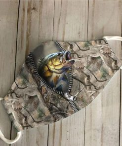Fishing zip fish 3D camo face mask3