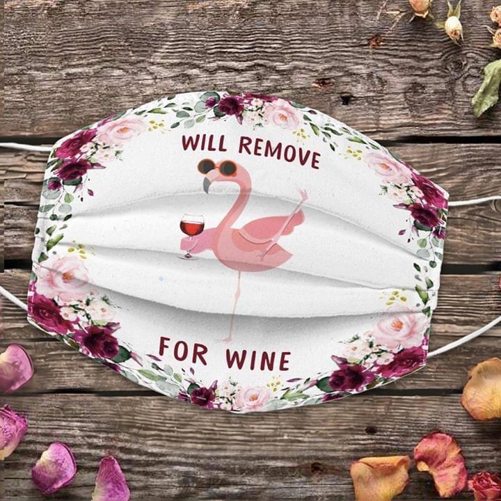 Flamingo Will remove for wine face mask
