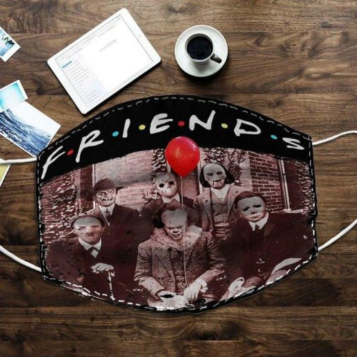 Friends horror movie characters face mask