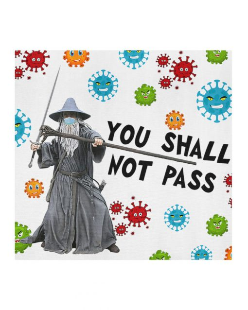 Gandalf You shall not pass face mask 1