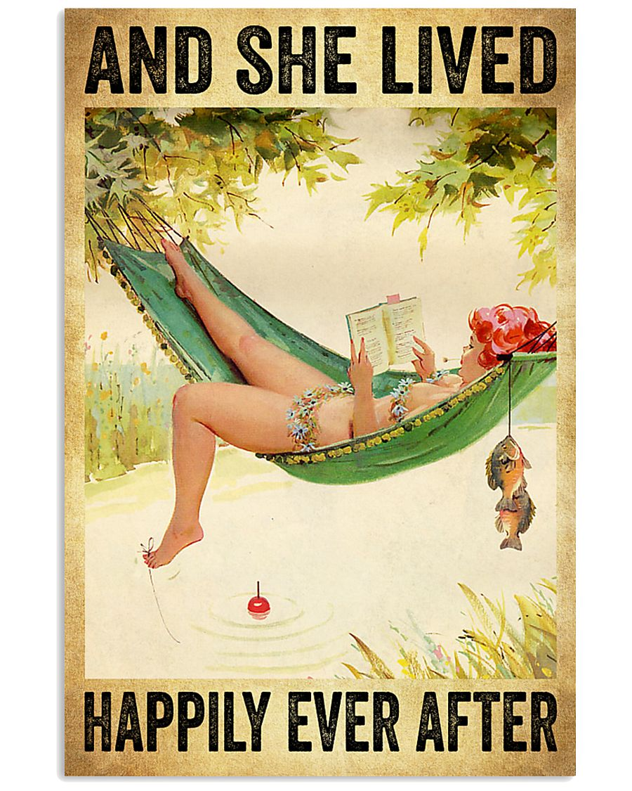 Hammock Beach Woman Fishing And she lived happily ever after poster 1