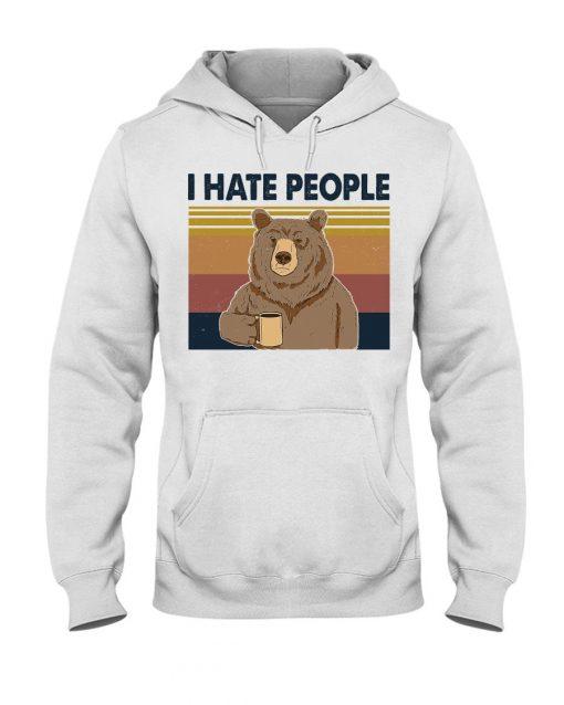 Hate People Bear Hoodie