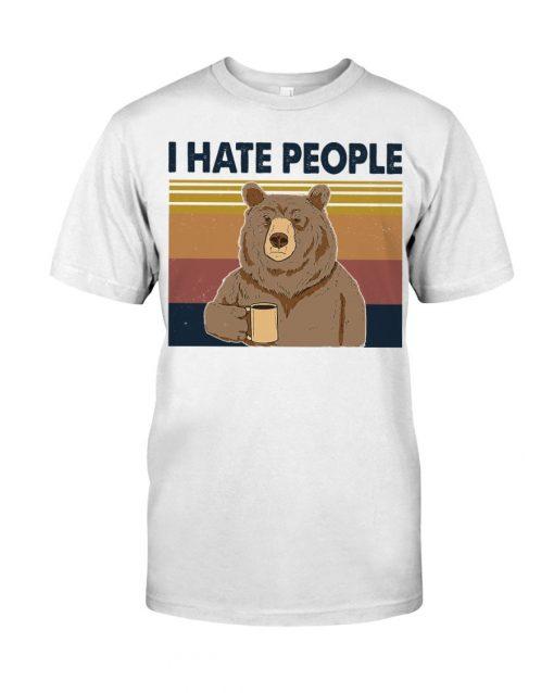 Hate People Bear T-shirt