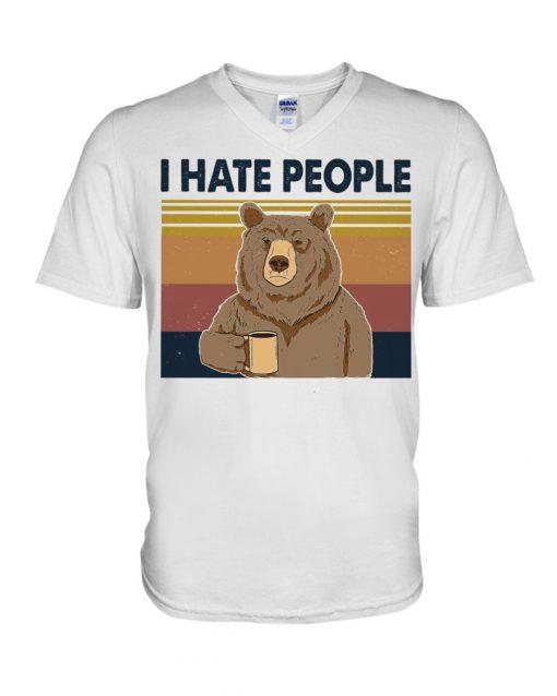 Hate People Bear V-neck