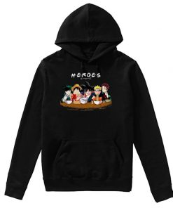 Heroes - Anime characters that eat a lot hoodie