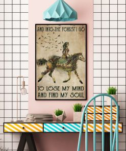 Horse Girl And into the forest i go to lose my mind and find my soul vintage poster2