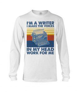 I'm a writer and I work in my head work for me long sleeved