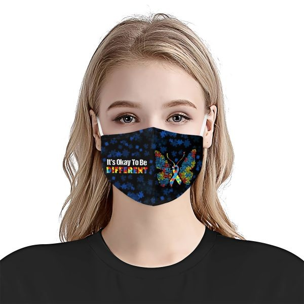 It's Okay To Be Different Autism Awareness face mask