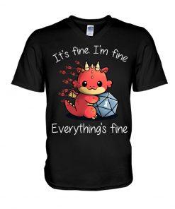 It's fine I'm fine Everything's fine Dungeons & Dragons V-neck