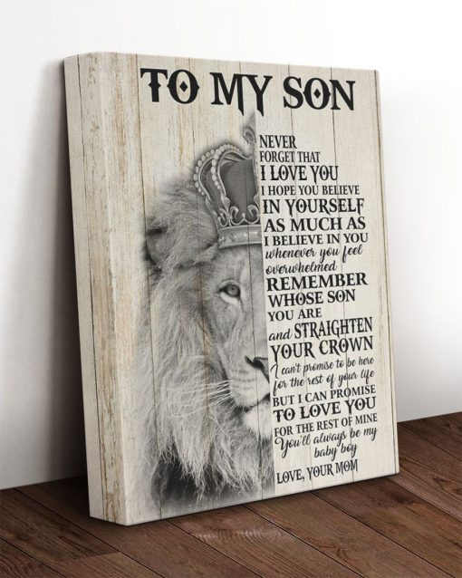 Lion King To my Son Never forget that I love you I hope you believe in yourself as much as i believe in you Gallery Wrapped Canvas1