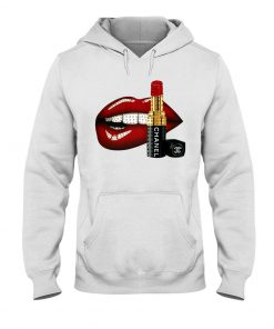 Lips and Chanel Lipstick Hoodie