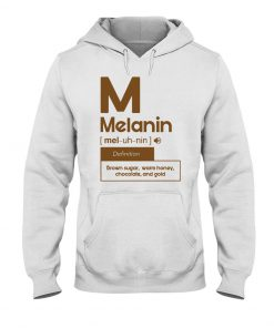 Melanin definition Brown sugar, warm honey, chocolate, and gold hoodie