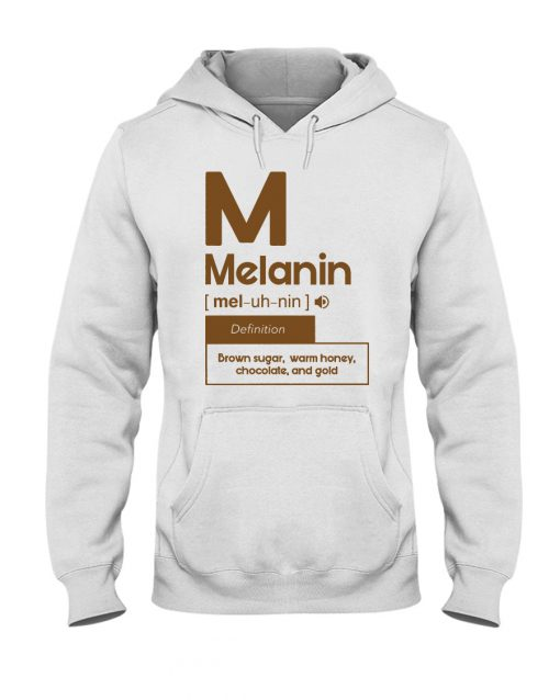 Melanin definition Brown sugar, warm honey, chocolate, and gold hoodie