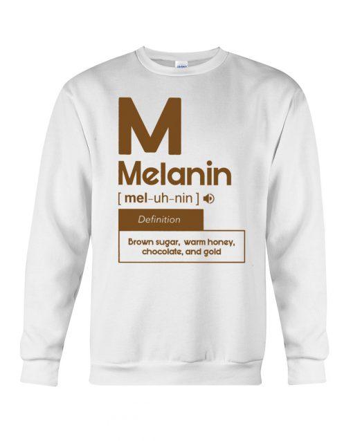 Melanin definition Brown sugar, warm honey, chocolate, and gold sweatshirt