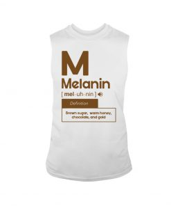Melanin definition Brown sugar, warm honey, chocolate, and gold tank top