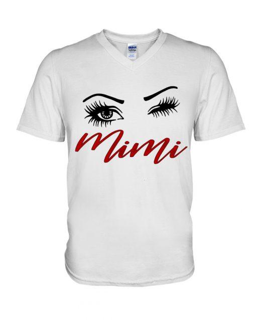 Mini eyes art V-neck