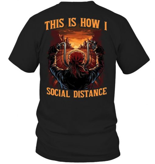 Motorcycle This is how I social distance V-neck