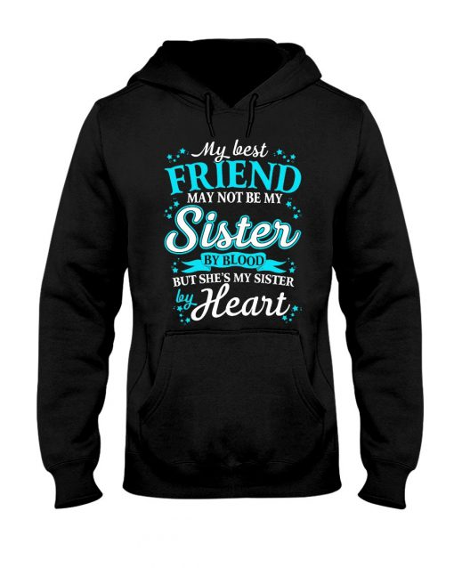 My best friend may not be my sister by blood but she's my sister by heart Hoodie