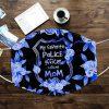 My favorite police officer calls me mom floral face mask