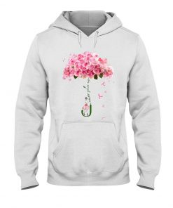 Never give up Flower rose Hoodie