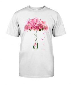 Never give up Flower rose T-shirt