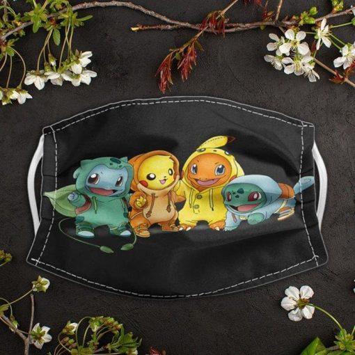 Pikachu Pokemon face mask