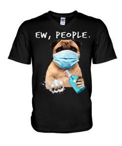 Pug Ew People Coronavirus V-neck